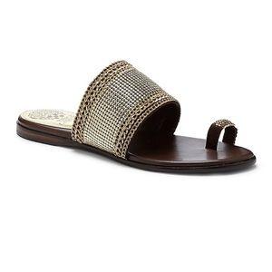 Vince Camuto Brown Amalie Slip On Sandals size 9
